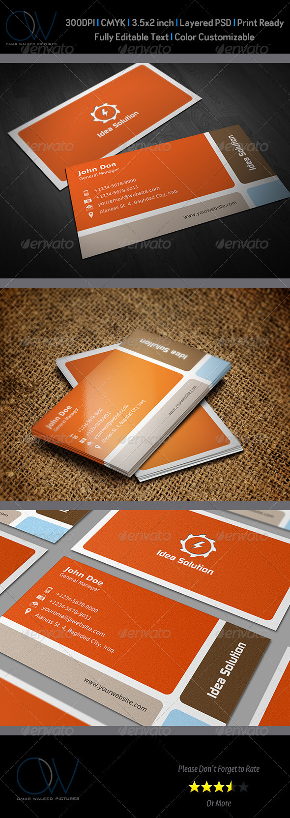 GraphicRiver Corporate Business Card Vol.7 3433081