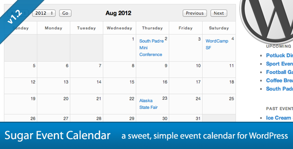 CodeCanyon Sugar Event Calendar for WordPress 2568175