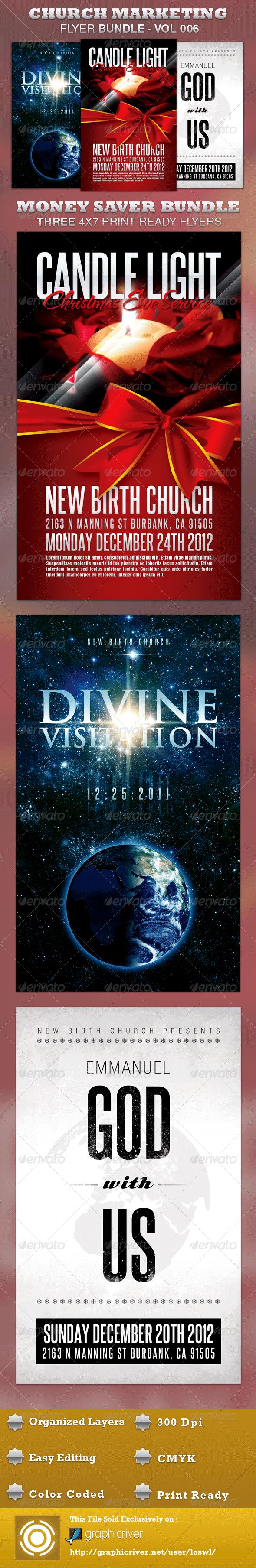 GraphicRiver Church Marketing Flyer Bundle-Vol 006 3433860