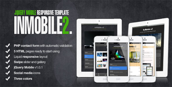 InMobile 2 - jQuery Mobile & Tablet | HTML5