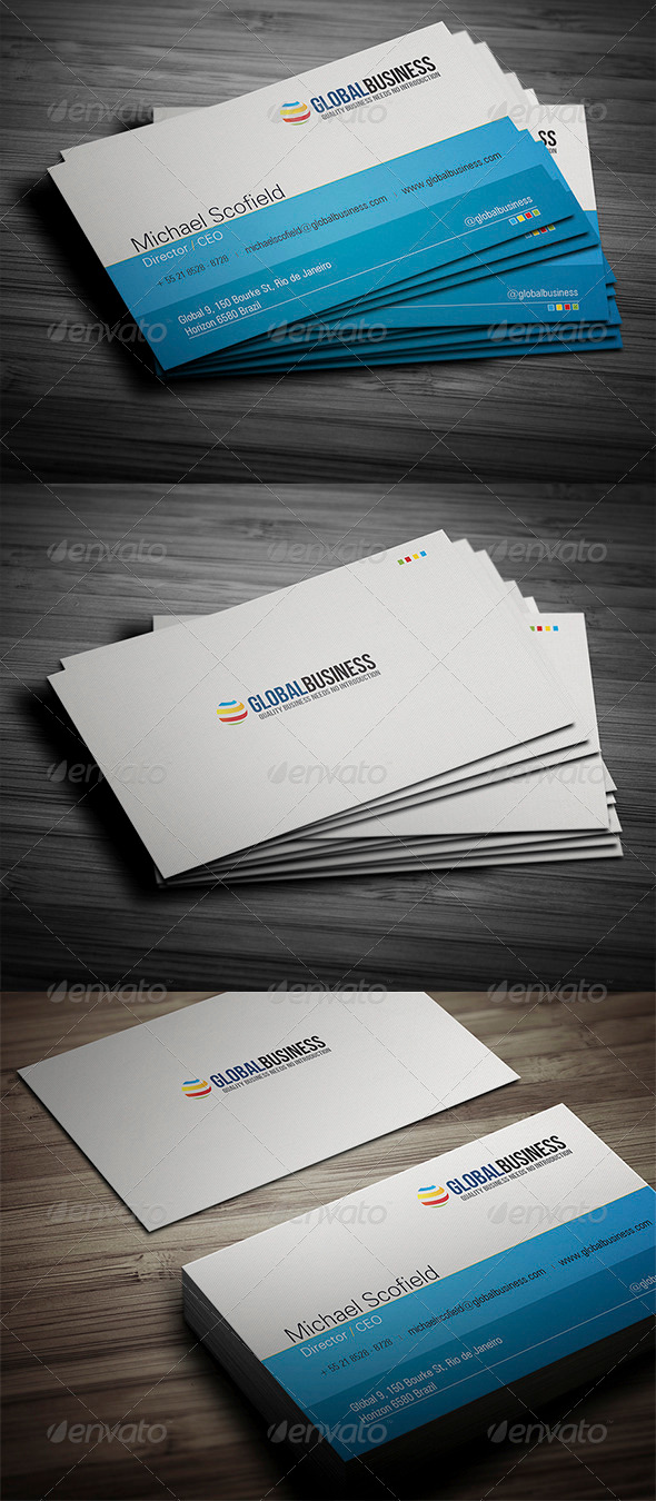 GraphicRiver Corporate Business Card 19 3434363