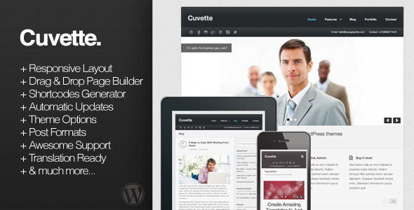 Cuvette - Responsive Multipurpose WordPress Theme