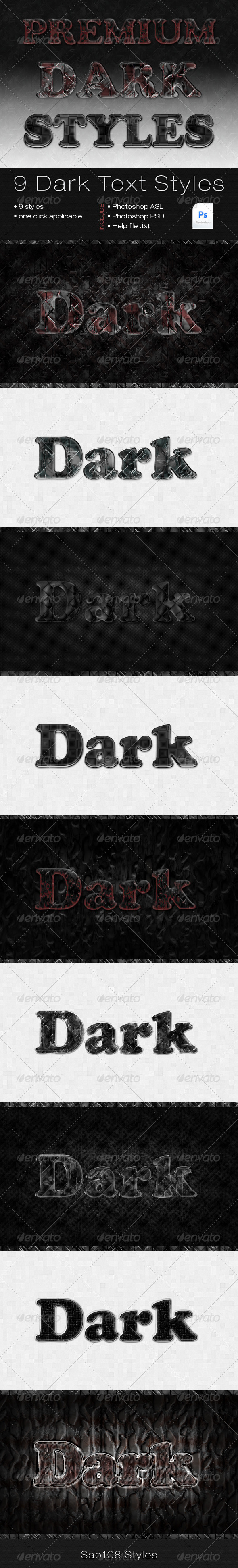 GraphicRiver 9 dark styles 3434446