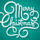 Merry Christmas Hand Lettering (Vector) - GraphicRiver Item for Sale