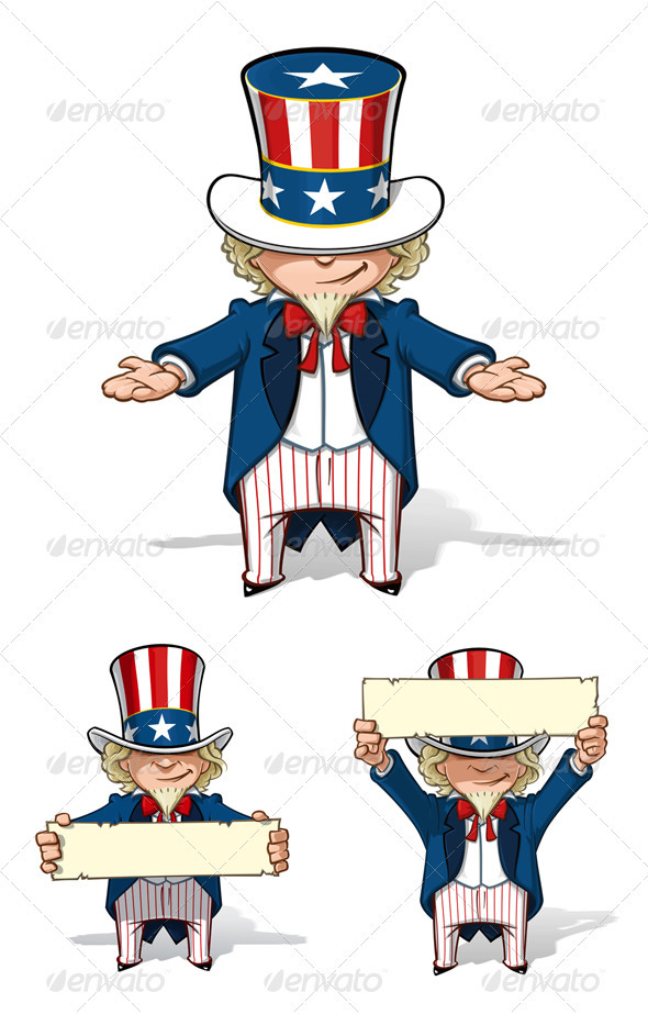 GraphicRiver Uncle Sam Showing Set 3434690