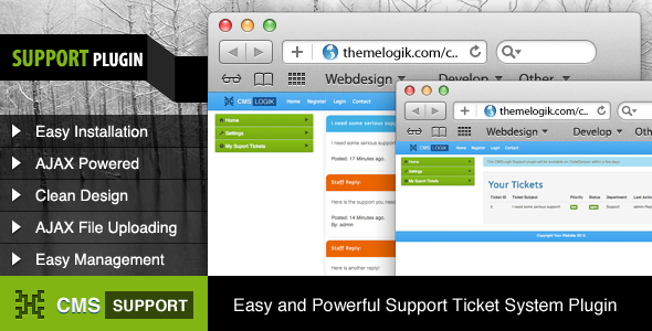 CMSLogik Support Plugin - CodeCanyon Item for Sale