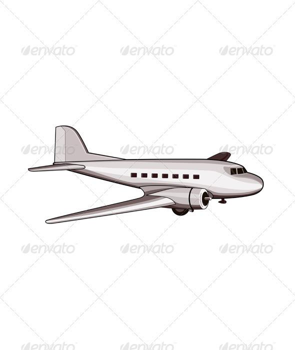 GraphicRiver Airplane Retro 3435387