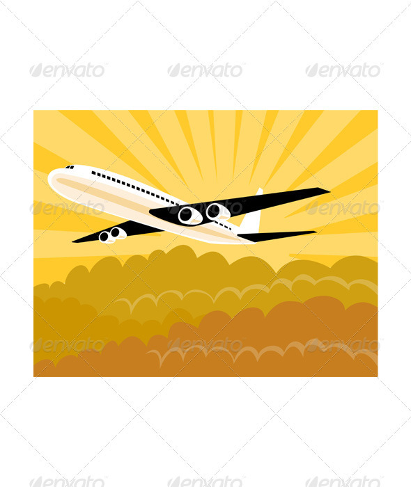 GraphicRiver Commercial Jet Plane Airline Ret 3435464