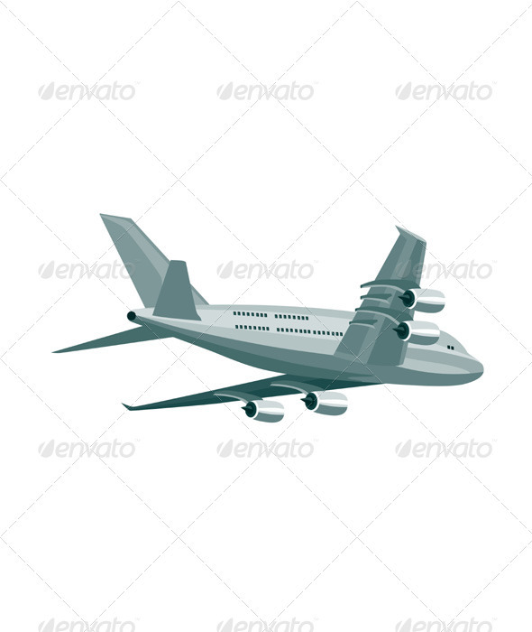 GraphicRiver Commercial Jet Plane Airline Ret 3435471