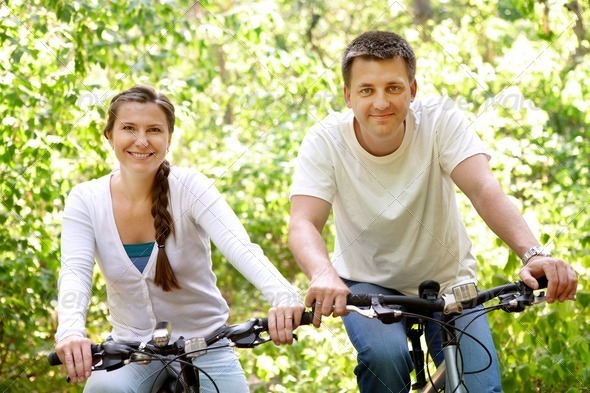 Stock Photo - PhotoDune Riding bikes 370611