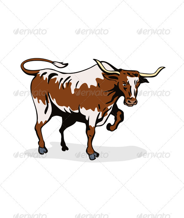 GraphicRiver Texas Longhorn Bull 3435485