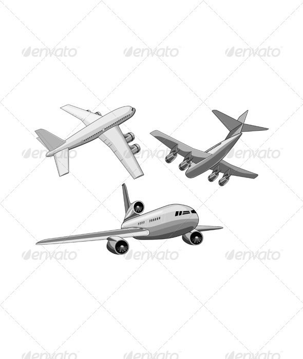 GraphicRiver Commercial Jet Plane Airline Ret 3435503