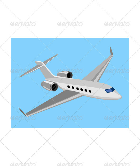 GraphicRiver Commercial Jet Plane Airline Ret 3435508