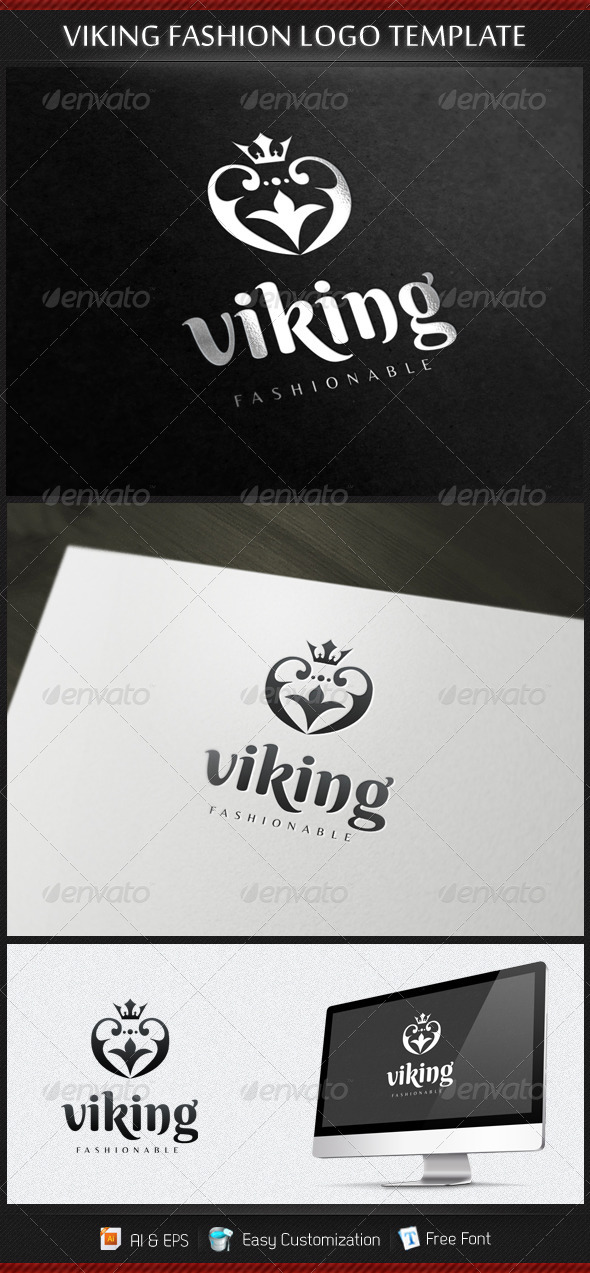 GraphicRiver Viking Fashion Logo Template 3435555