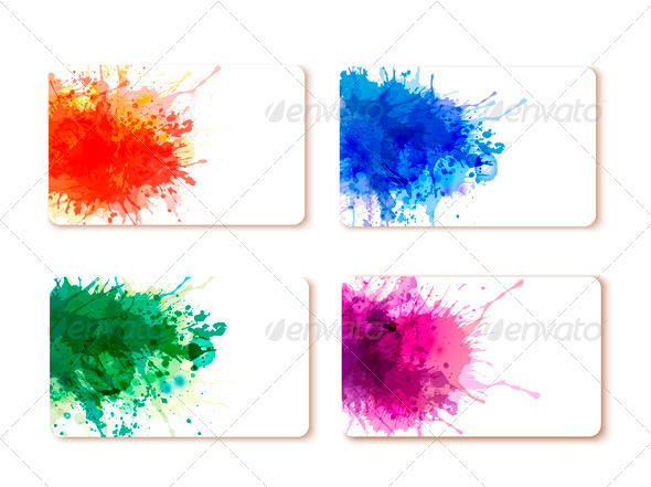GraphicRiver Collection of colorful abstract watercolor banners 3435655