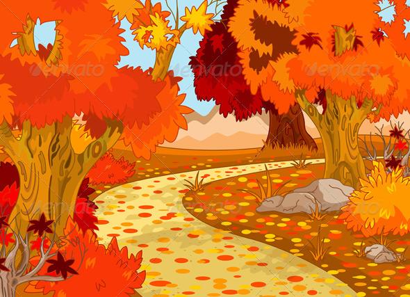 GraphicRiver Autumn Forest Landscape 3435665