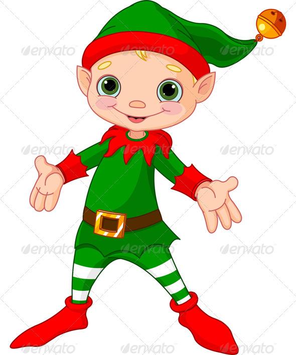 GraphicRiver Happy Christmas Elf 3435668