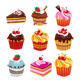 9 Various Cup-Cakes Collection - GraphicRiver Item for Sale