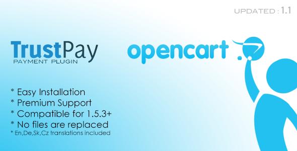 CodeCanyon TrustPay Opencart Plugin 3308992