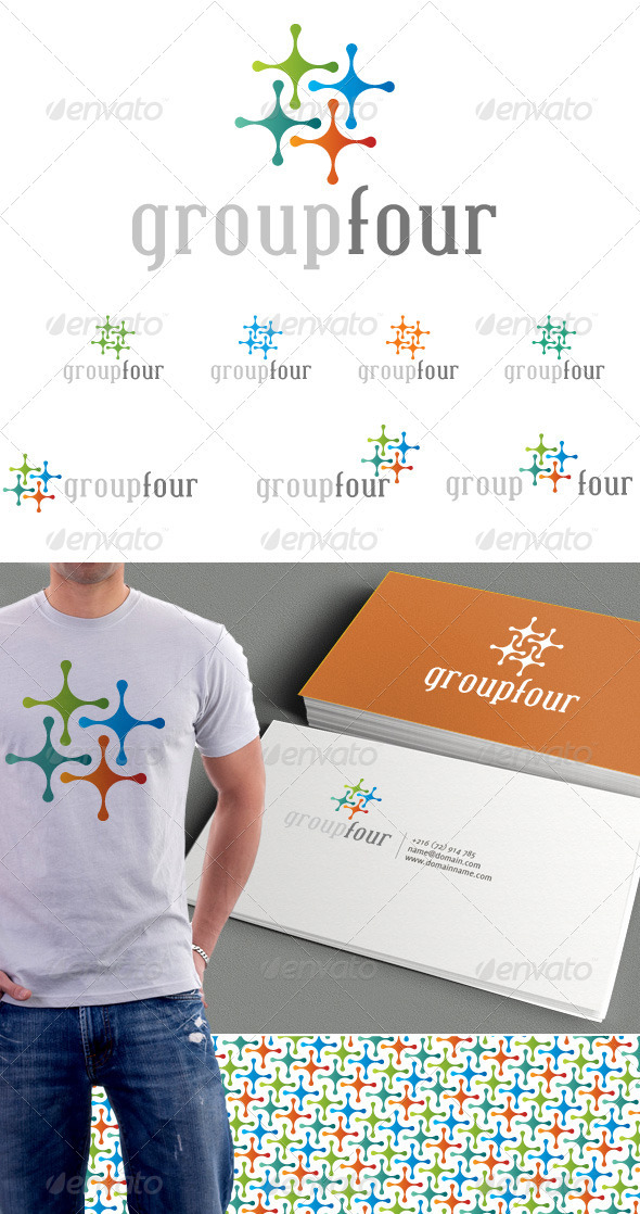 GraphicRiver Group Four Logo & Background 3435951