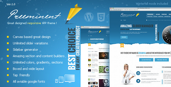 ThemeForest Preeminent WordPress Canvas Based Theme 2924432