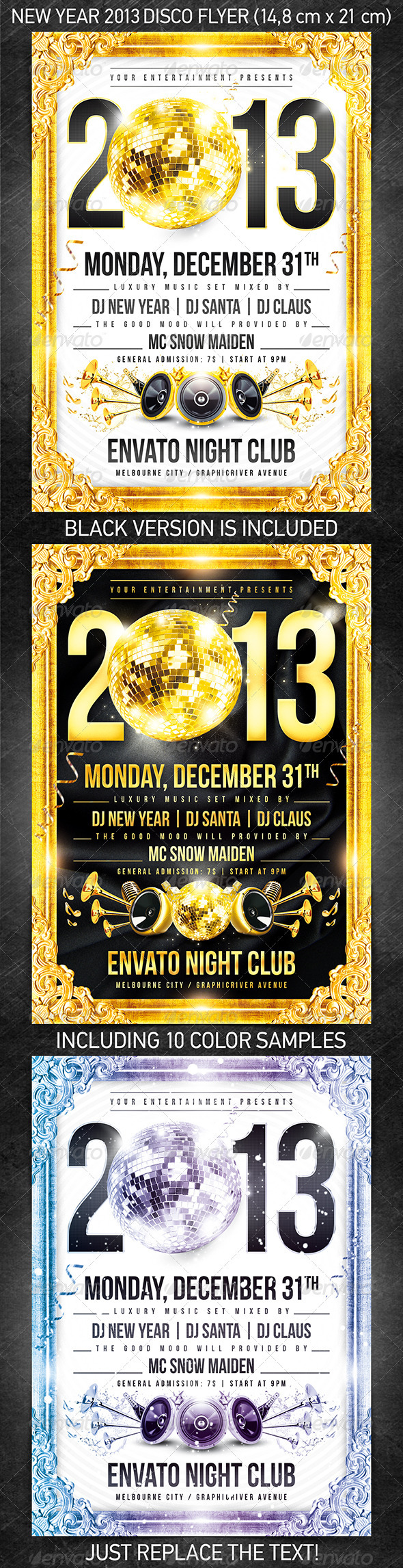 GraphicRiver New Year 2013 Disco Flyer 3436066