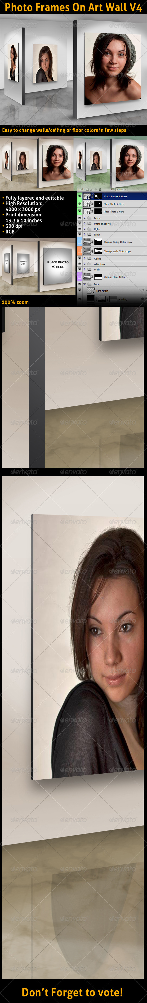 GraphicRiver Photo Frames On Art Wall V4 3405588