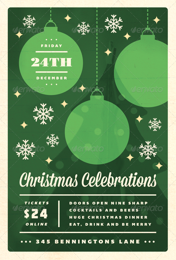 Celebrations - Christmas Flyer Template