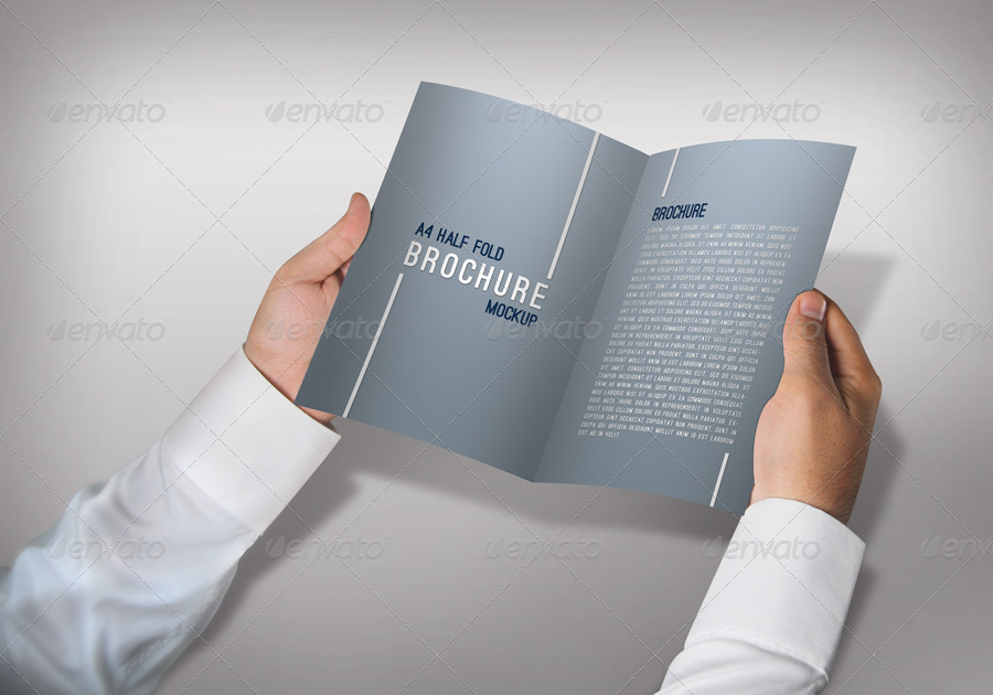 A4 Half Fold Brochure Mockups by ThemeTor | GraphicRiver