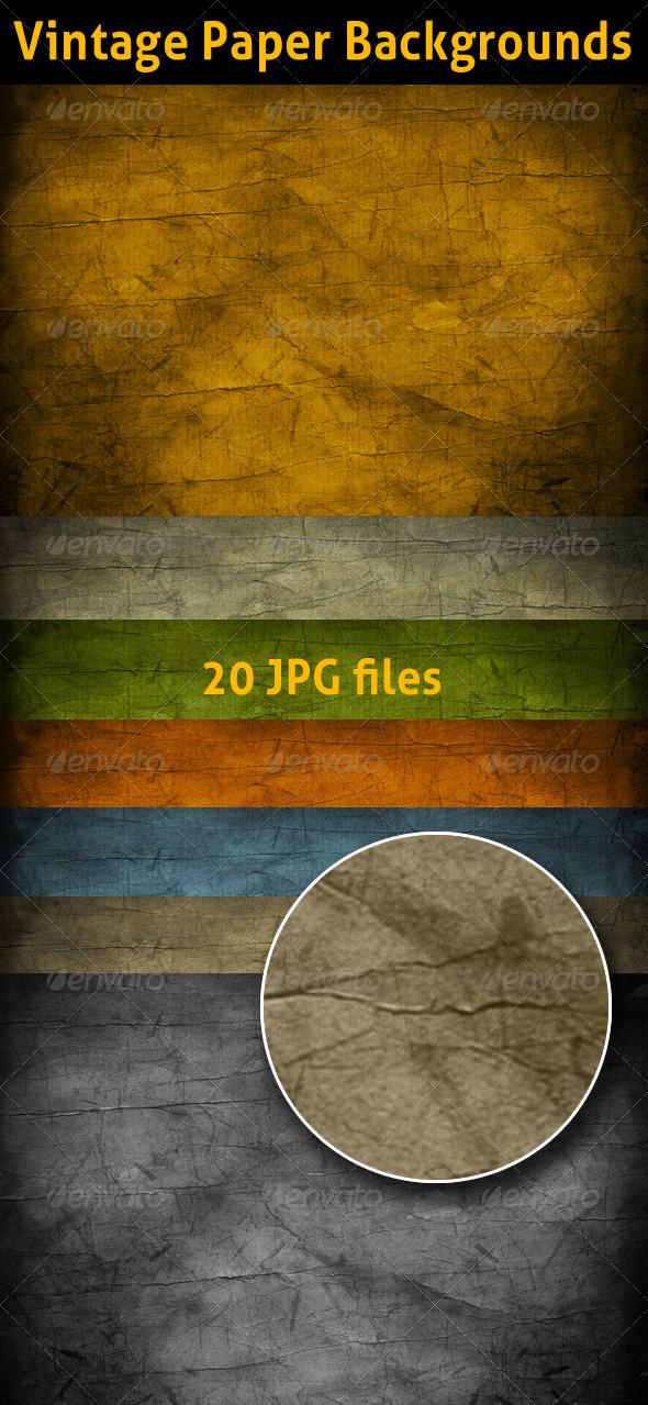 GraphicRiver Vintage Paper Texture Backgrounds 3437706