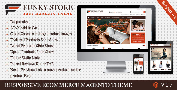 ThemeForest Funky Store Magento Theme 3307236