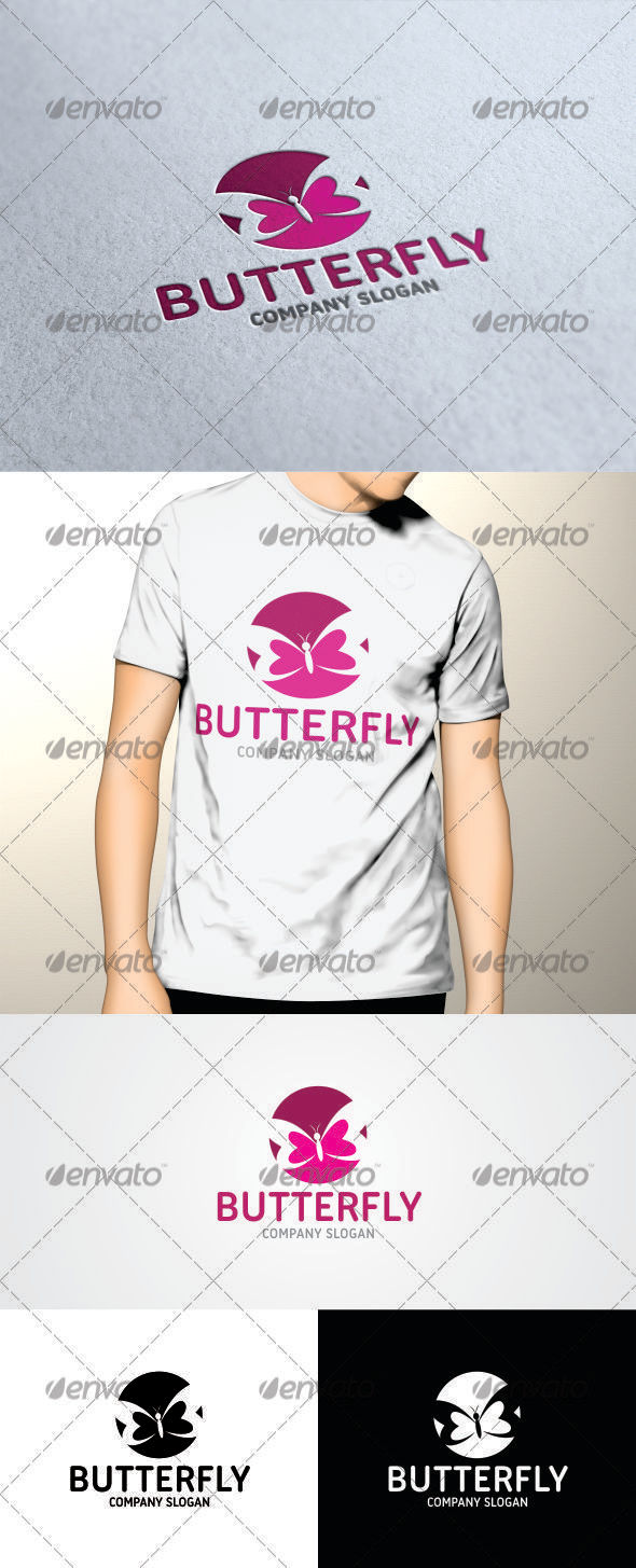 GraphicRiver Butterfly Logo V2 Template 3437776