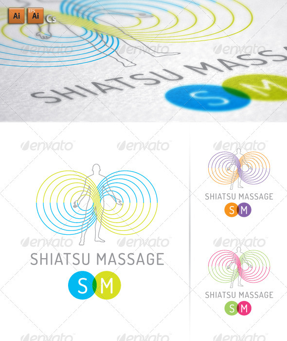 Shiatsu Massage - Humans Logo Templates