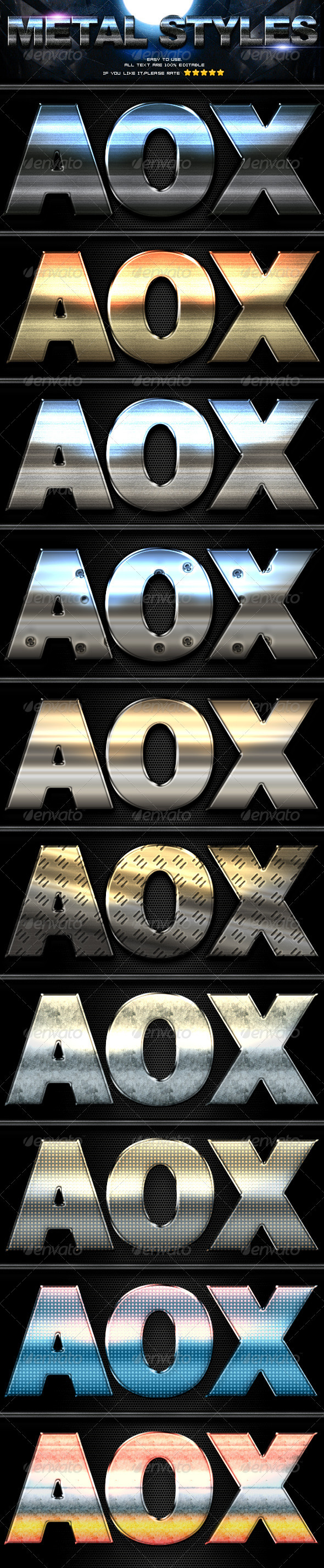 GraphicRiver 10 Metal Styles 3437915