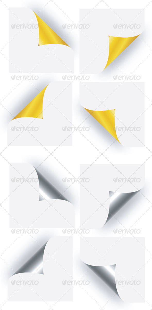 GraphicRiver Page Curl Golden & Silver 3437923