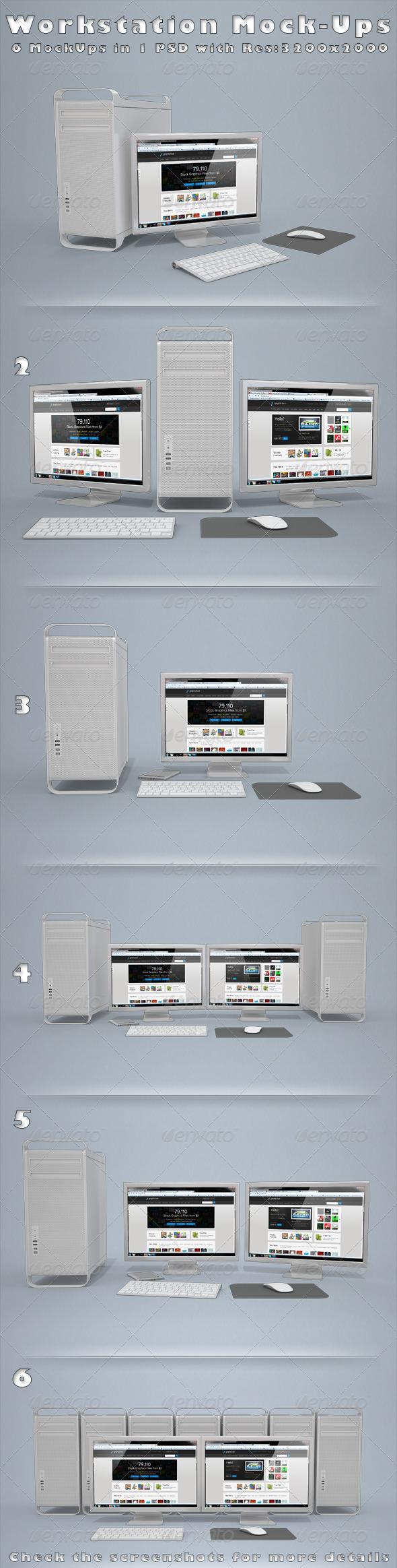 GraphicRiver Workstation Mock-Ups 3437938