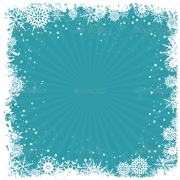GraphicRiver Grunge snowflake background 3437943