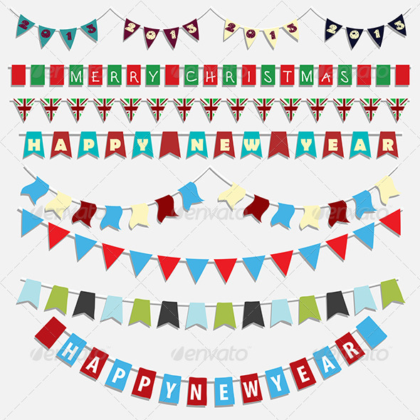 GraphicRiver Christmas bunting 3437990