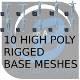 10 High Poly Rigged Base Meshes - 3DOcean Item for Sale