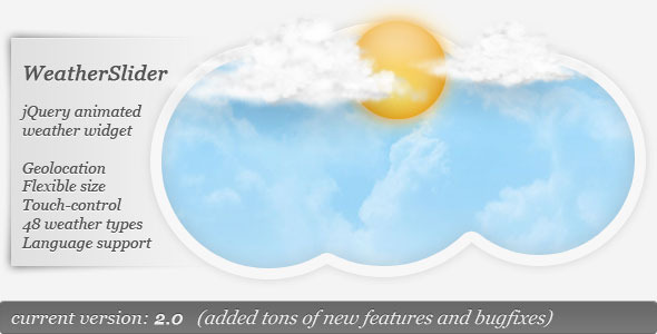 CodeCanyon WeatherSlider jQuery animated weather widget 1058937