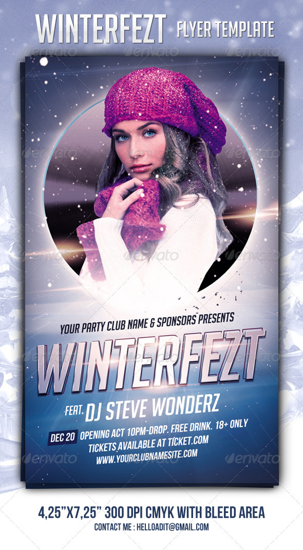 GraphicRiver Winterfezt Flyer Template 3438430