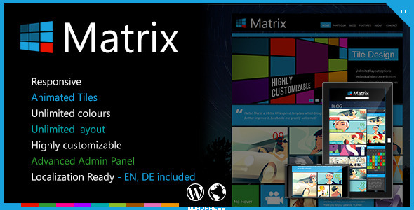ThemeForest Matrix Responsive WordPress Theme 3215443