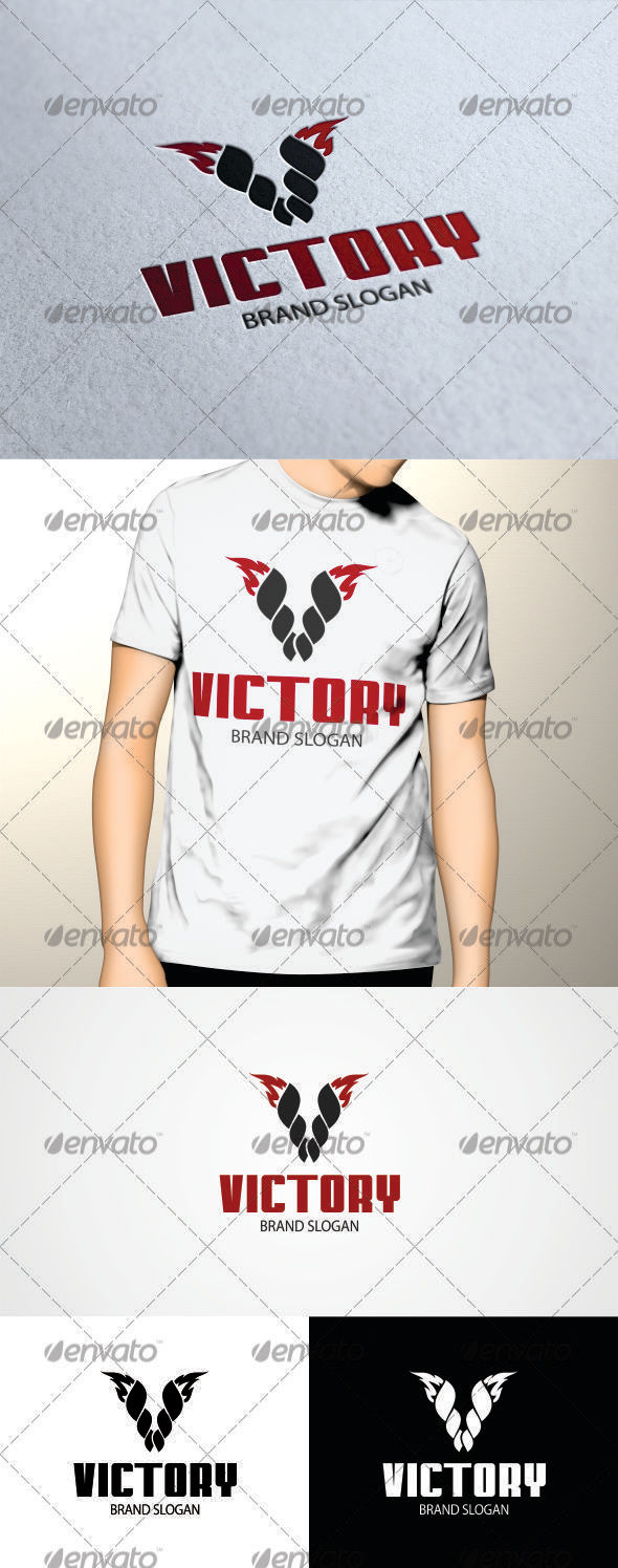 GraphicRiver Victory Logo Template 3406113