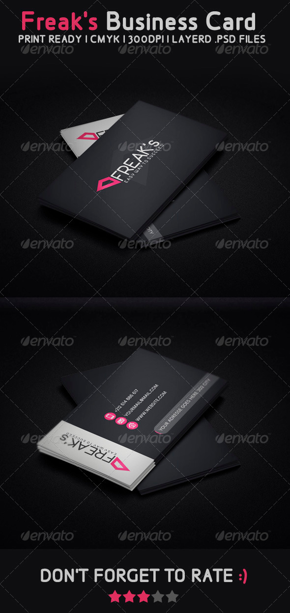 Freak Modern Business Card - Creative Business Cards