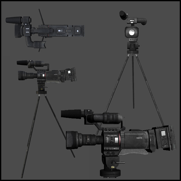 News Crew Camera - 3DOcean Item for Sale
