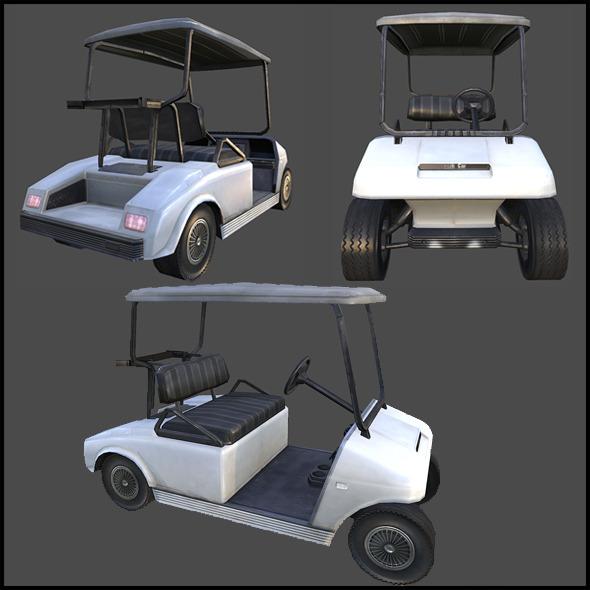 Golf Cart - 3DOcean Item for Sale
