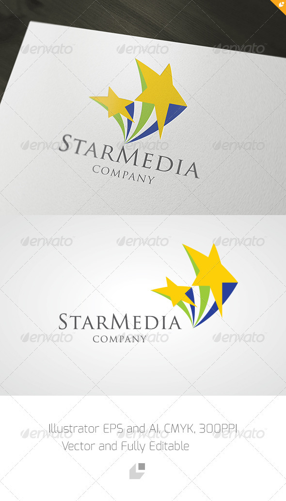 GraphicRiver Star Media Logo 3385970