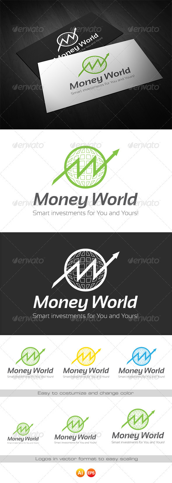 GraphicRiver Money World Logo for Finance 3440784