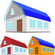 Vector Set of Colored Houses - GraphicRiver Item for Sale