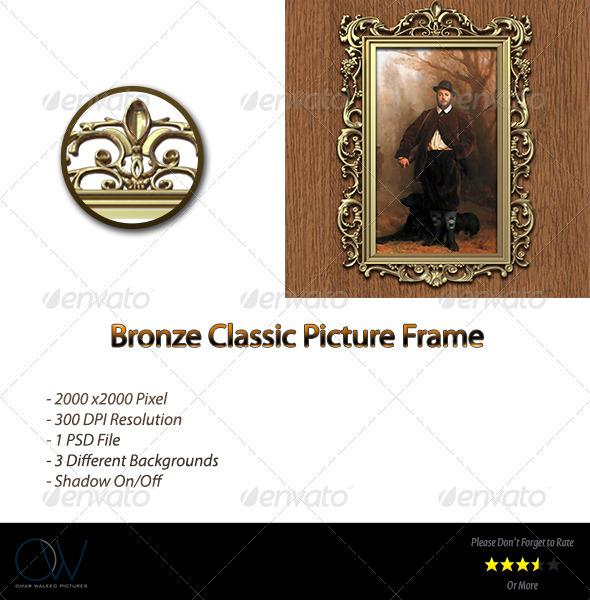 GraphicRiver Bronze Classic Picture Frame 3441373